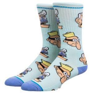 Spongebob Squarepants Mens Crew Socks Barnacle Boy